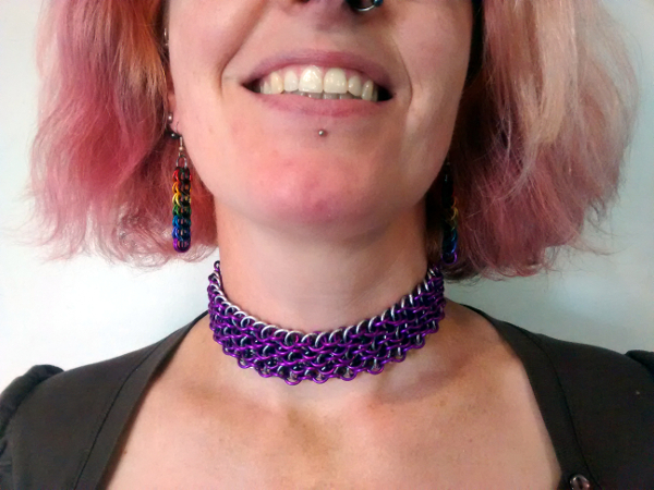 Aluminium Vipera Beruse Choker and full-Persian Earrings